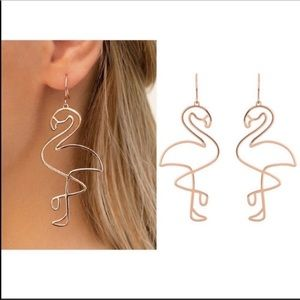 Jewelry - NWOT! Flamingo Earrings!